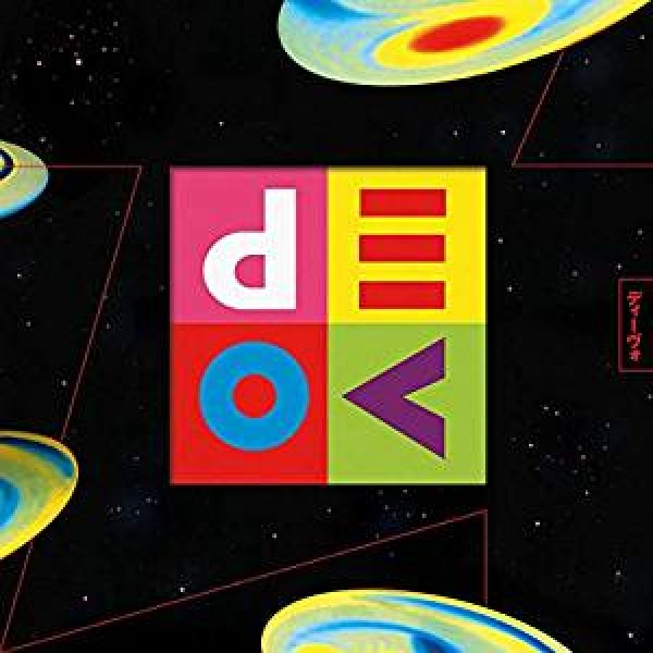 DEVO - Smooth Noodle Maps (postomodern Chaos Yellow Marbled With White, Blue And Red)