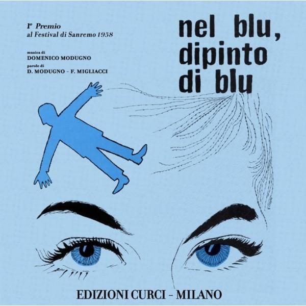MODUGNO DOMENICO - Nel Blu, Dipinto Di Blu (vinile 45 Giri + Spartito)