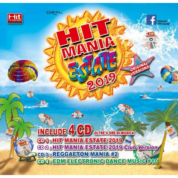 COMPILATION - Hit Mania Estate 2019 (box 4 Cd + Rivista)